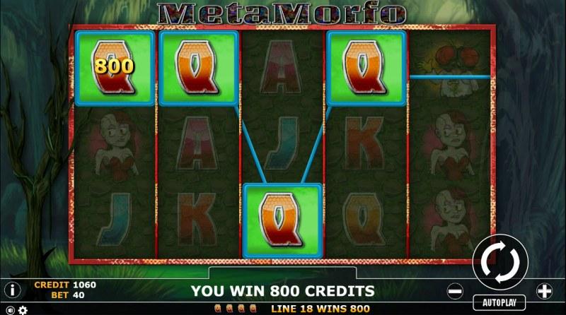 Metamorfo :: A four of a kind Win