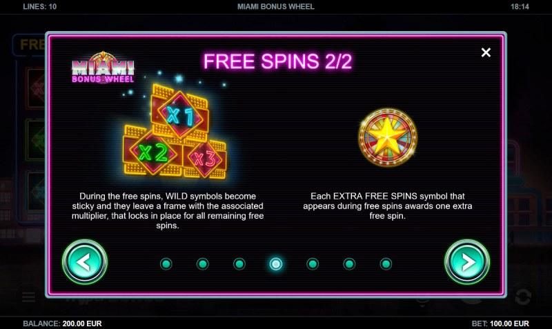 Miami Bonus Wheel :: Free Spins Rules