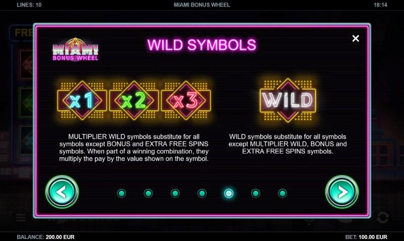 Miami Bonus Wheel :: Wild Symbols Rules