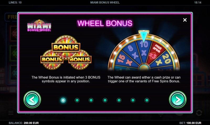 Miami Bonus Wheel :: Wheel Bonus