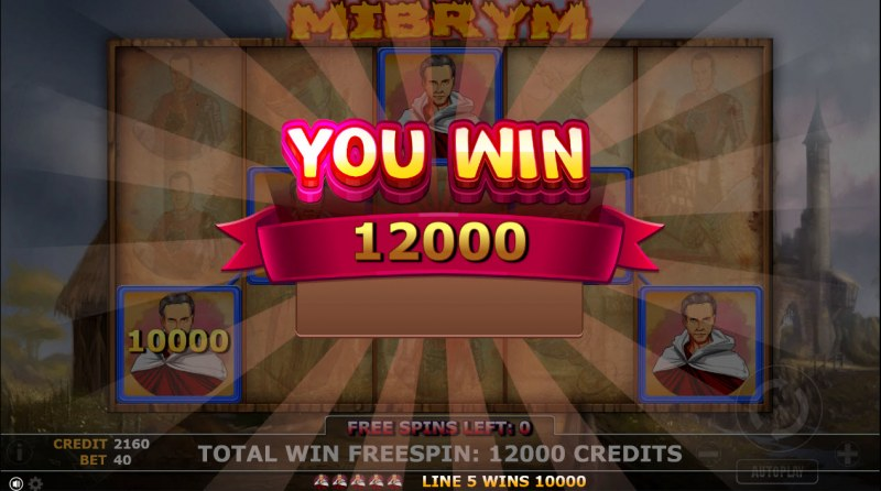 Mibrym :: Total free spins payout