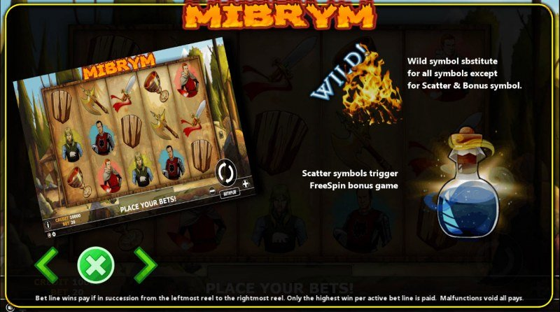 Mibrym :: Wild and Scatter Rules
