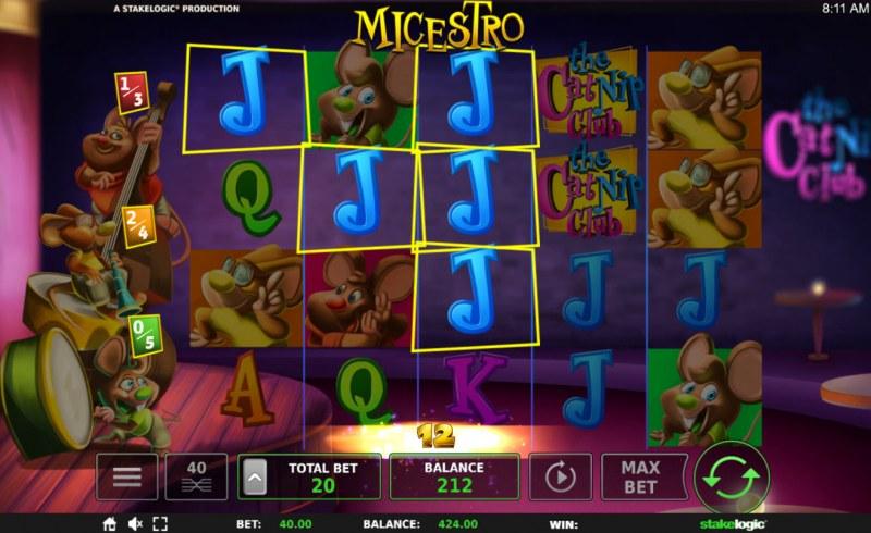 Micestro :: Three of a kind win