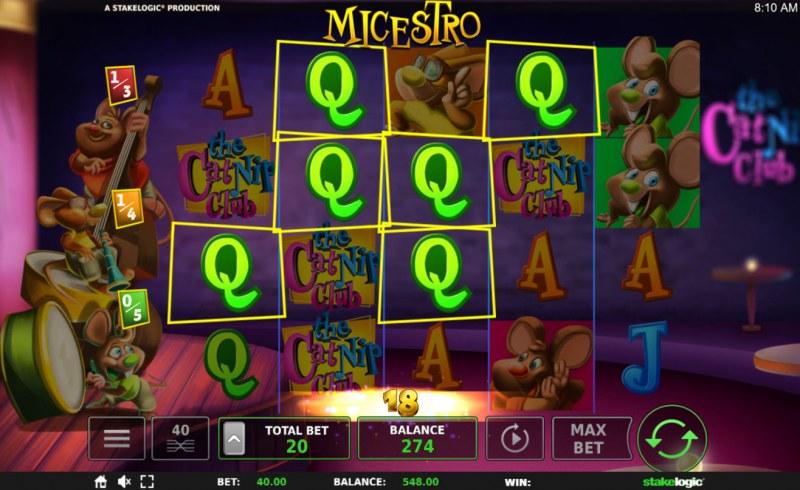 Micestro :: Multiple winning paylines
