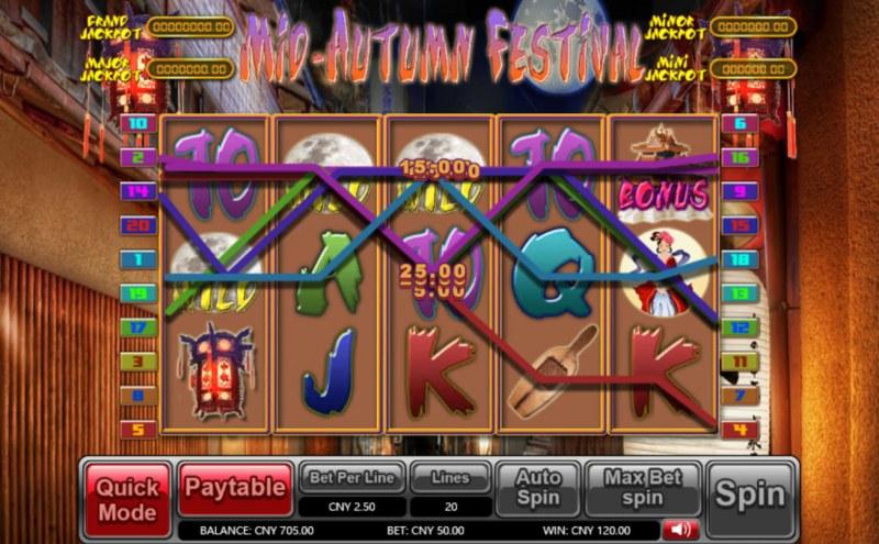 Mid-Autumn Festival :: Multiple winning paylines
