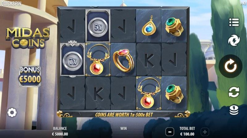 Midas Coins :: Main Game Board
