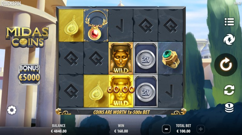 Midas Coins :: A three of a kind win
