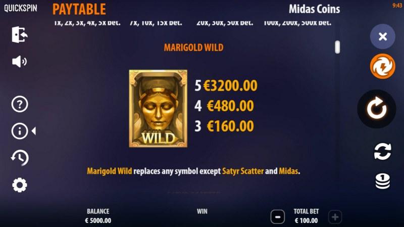 Midas Coins :: Wild Symbol Rules