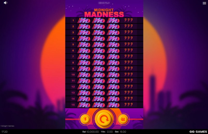 Midnight Madness :: Main Game Board