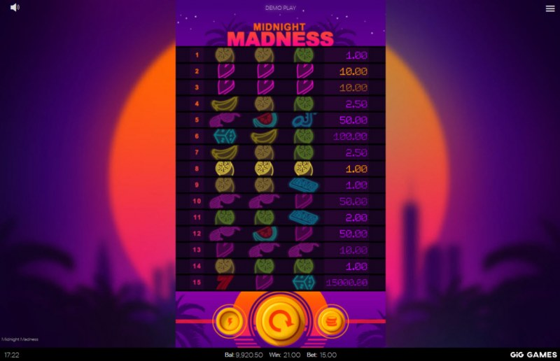 Midnight Madness :: A pair of winning lines