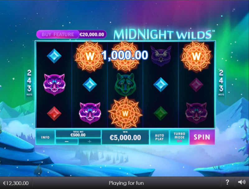 Midnight Wilds :: Multiple winning combinations