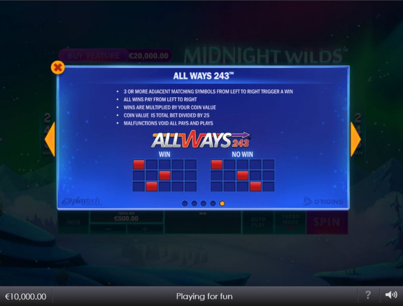 Midnight Wilds :: 243 Ways to Win