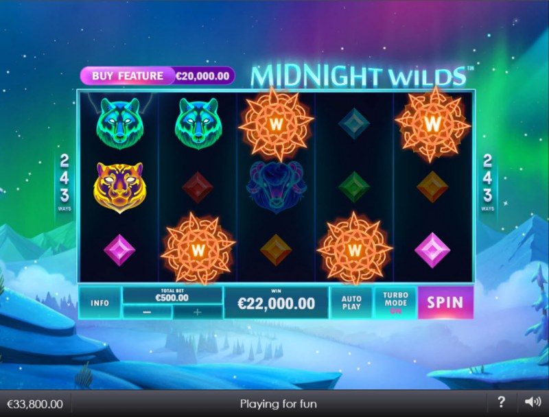 Midnight Wilds :: Multiple winning combinations lead to a big win