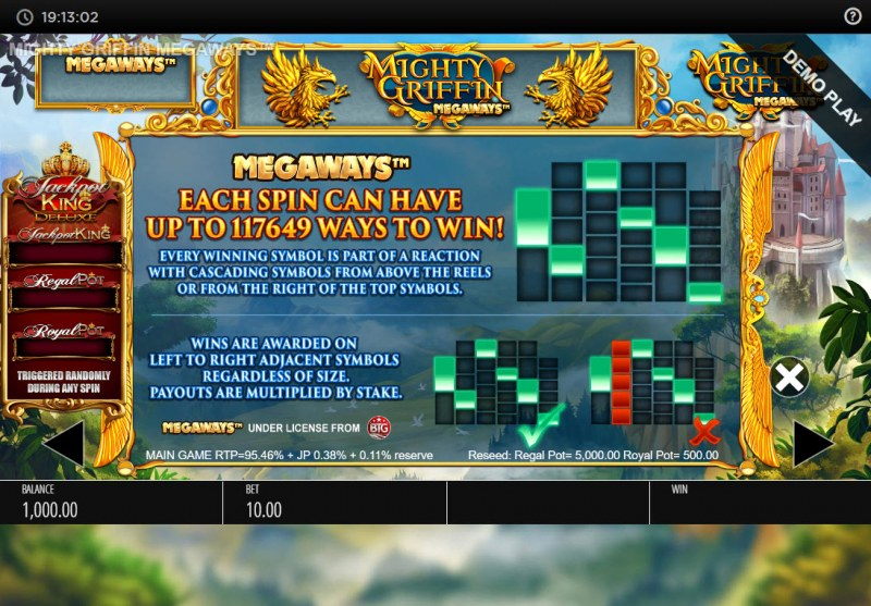 Mighty Griffin Megaways :: Up to 117649 Megaways