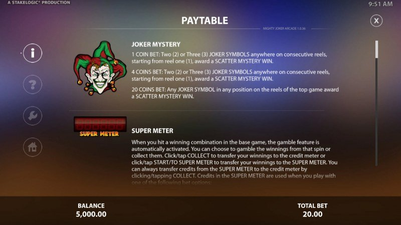 Mighty Joker Arcade :: Feature Rules