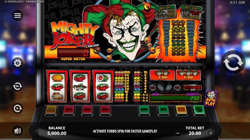 Mighty Joker Arcade :: Main Game Board