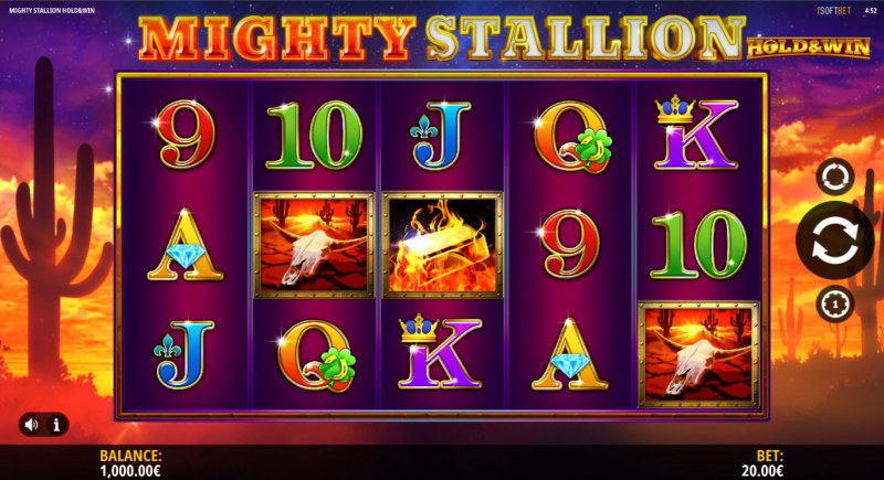 Mighty Stallion Hold & Spin :: Main Game Board