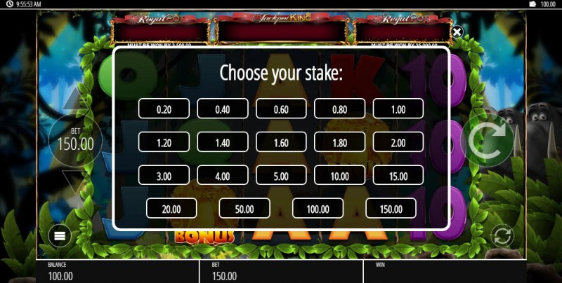 Mighty Tusk :: Choose your stake