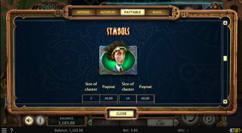 Miles Bellhouse and the Gears of Time :: Paytable - High Value Symbols
