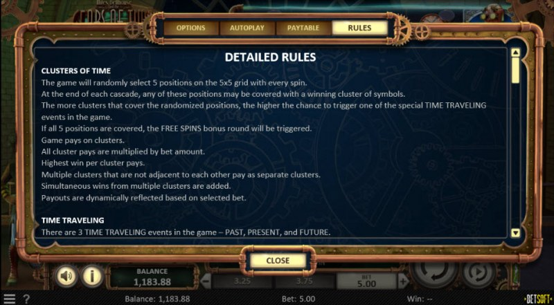Miles Bellhouse and the Gears of Time :: General Game Rules