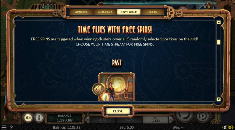 Miles Bellhouse and the Gears of Time :: Free Spins Rules