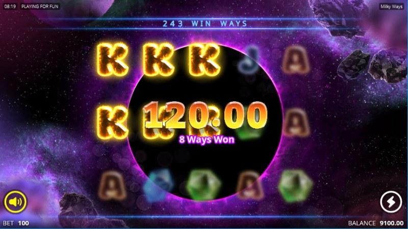Milky Ways :: Three of a kind win