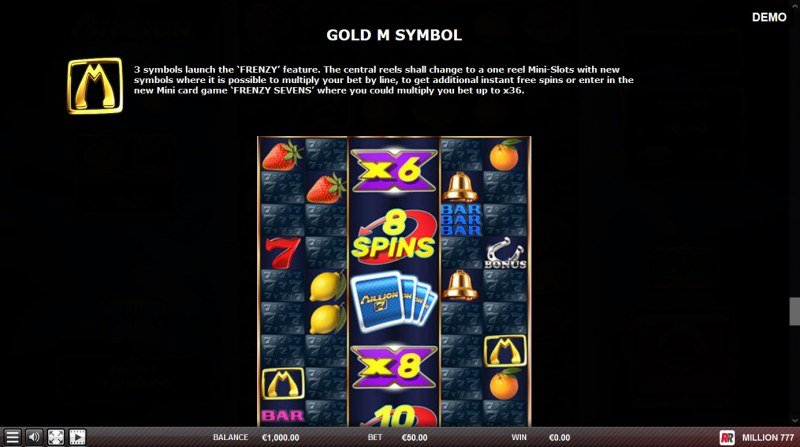 Million 777 :: Gold M Symbol
