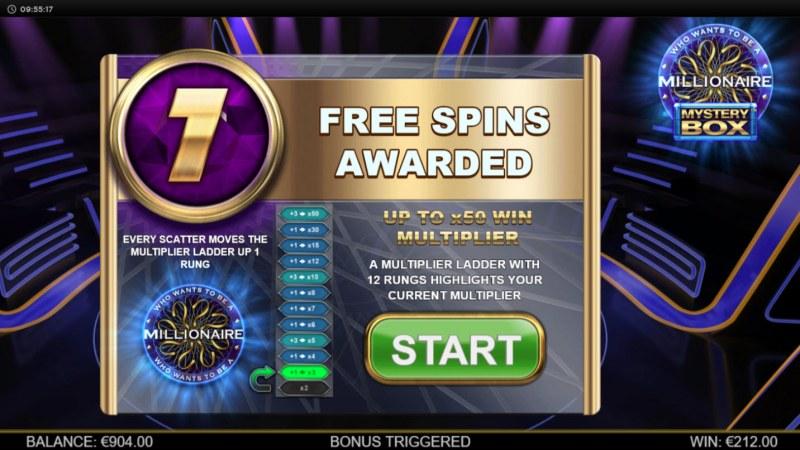 Millionaire Mystery Box :: 7 Free Spins Awarded