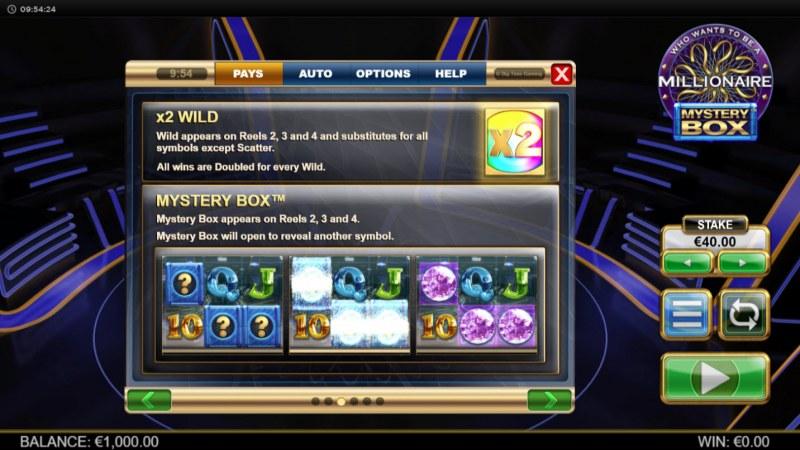Millionaire Mystery Box :: Wild Symbols Rules