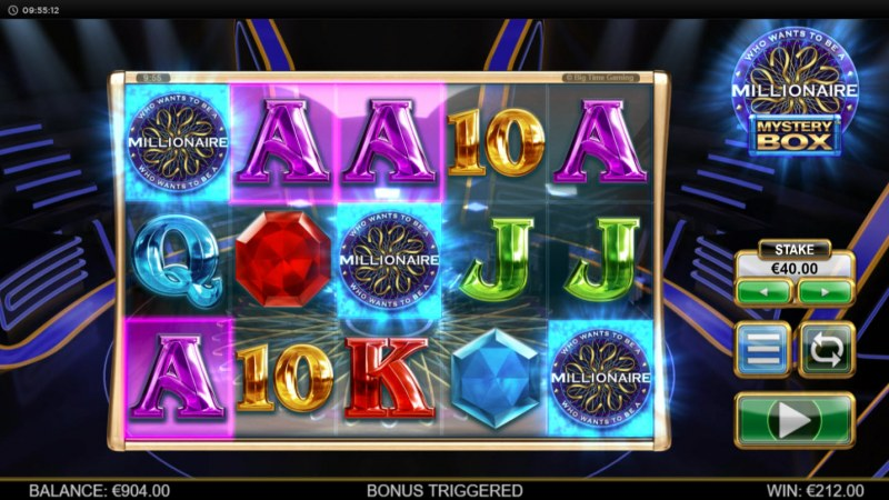 Play slots at Intercasino: Intercasino featuring the Video Slots Millionaire Mystery Box with a maximum payout of $250,000