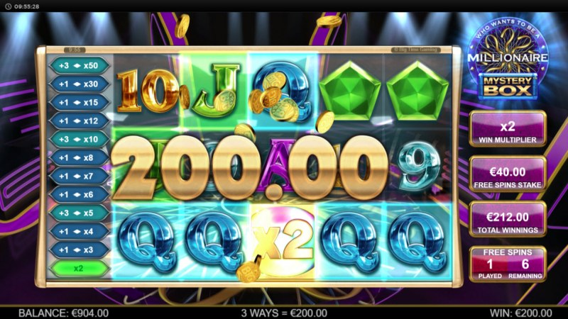 Millionaire Mystery Box :: Free Spins Game Board