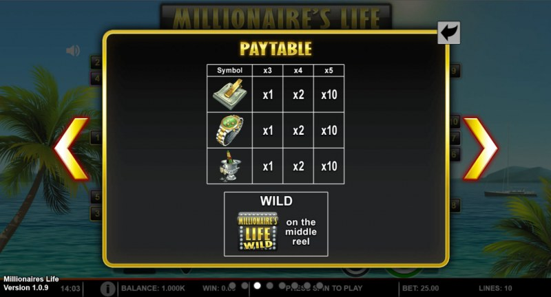 Millionaire's Life :: Paytable - Low Value Symbols