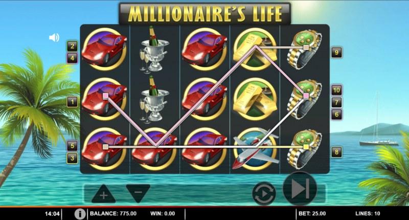 Millionaire's Life :: Multiple winning paylines