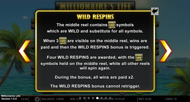 Millionaire's Life :: Wild Respins