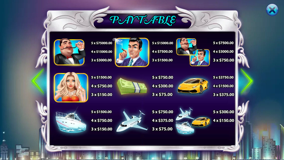 Millionaires :: Paytable