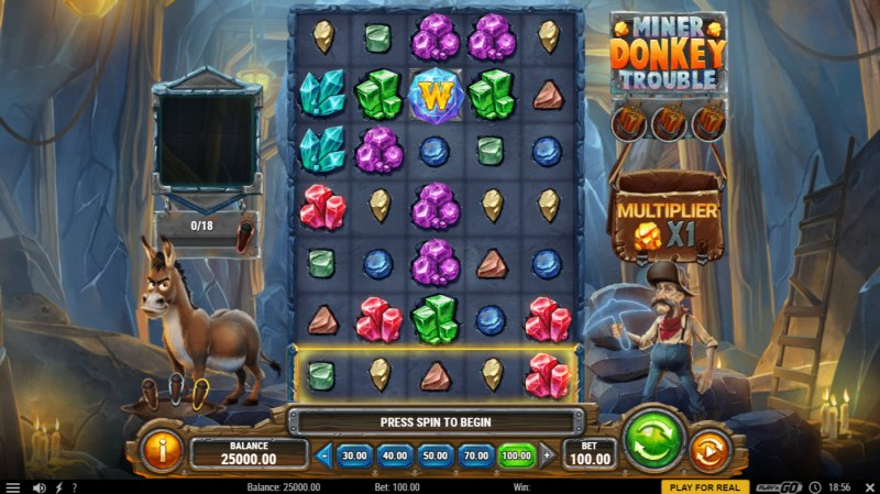 Miner Donkey Trouble :: Main Game Board