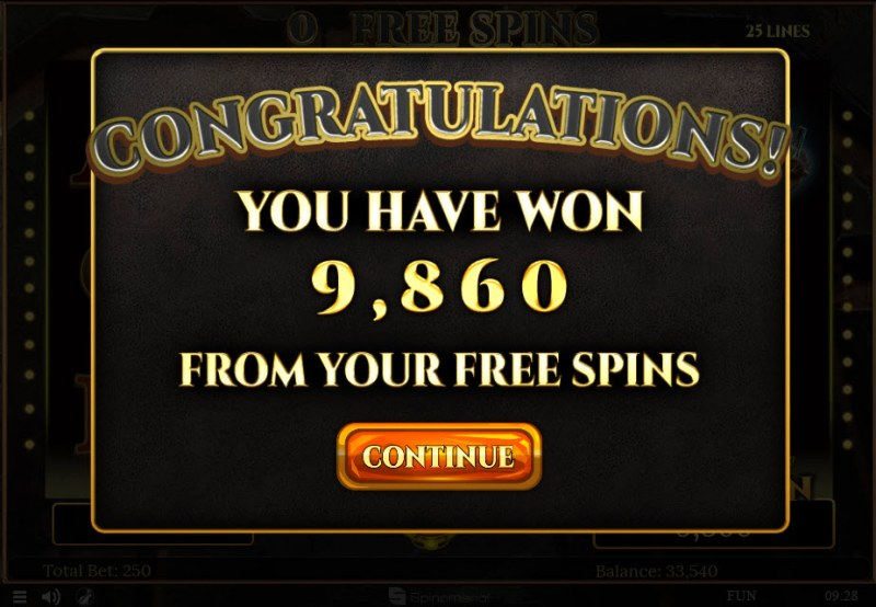 Mines of Gold :: Total free spins payout