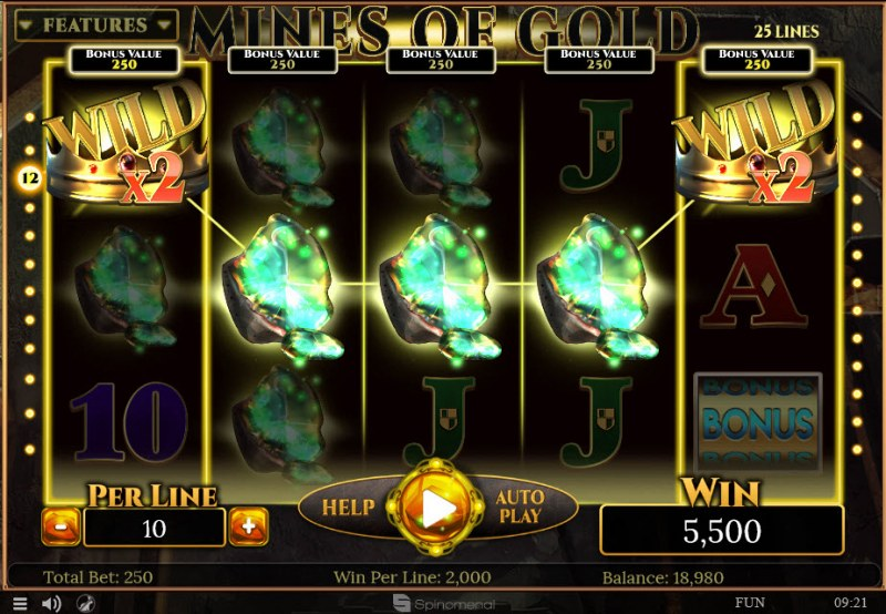 Mines of Gold :: Five of a kind