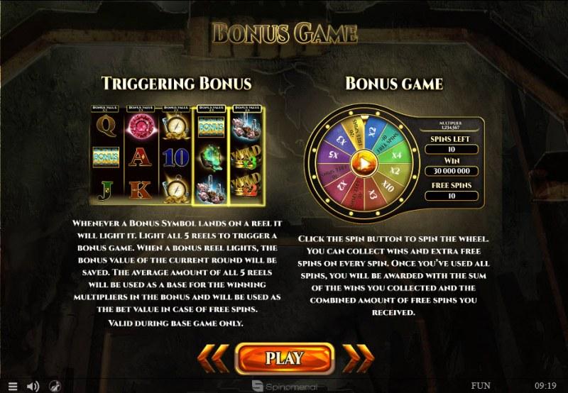Mines of Gold :: Bonus Game Rules