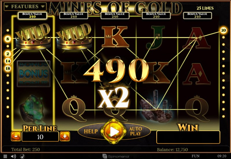 Mines of Gold :: 2x Win Multiplier