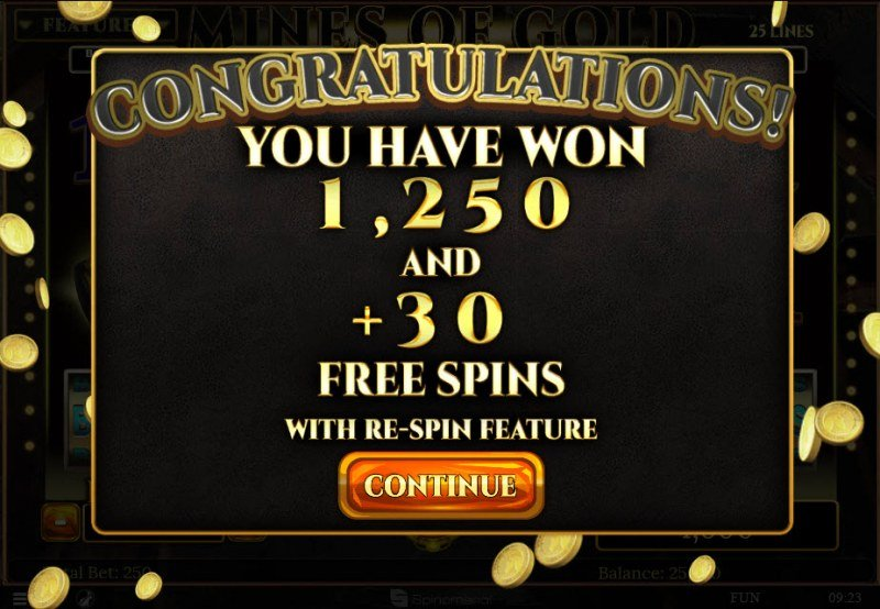 Mines of Gold :: 30 Free Spins Awarded
