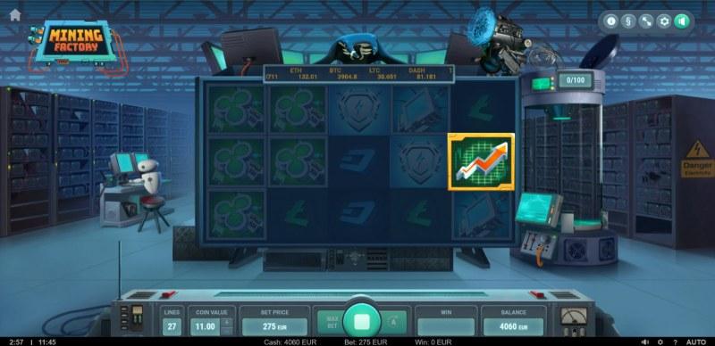 Mining Factory :: Scatter symbol triggers the bonus feature