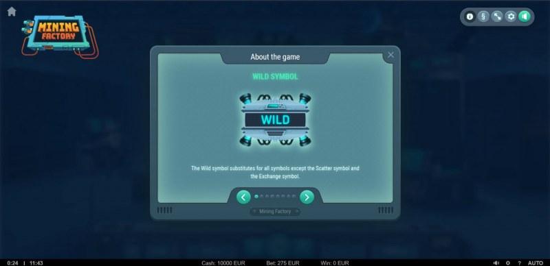 Mining Factory :: Wild Symbol Rules