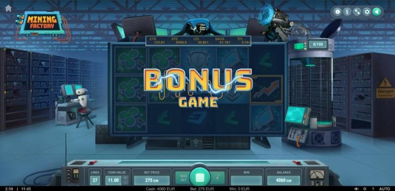 Mining Factory :: Bonus game triggered