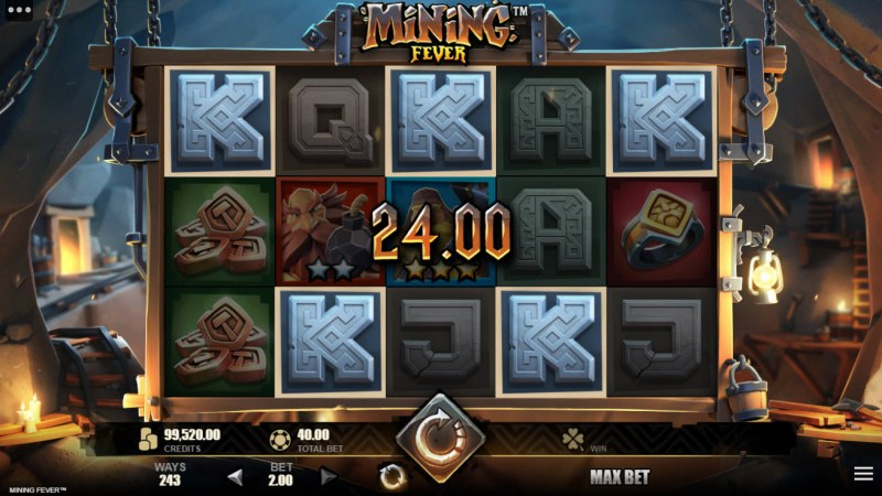 Mining Fever :: A five of a kind win