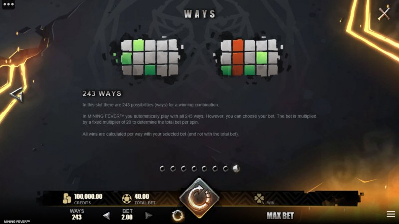 Mining Fever :: 243 Ways to Win