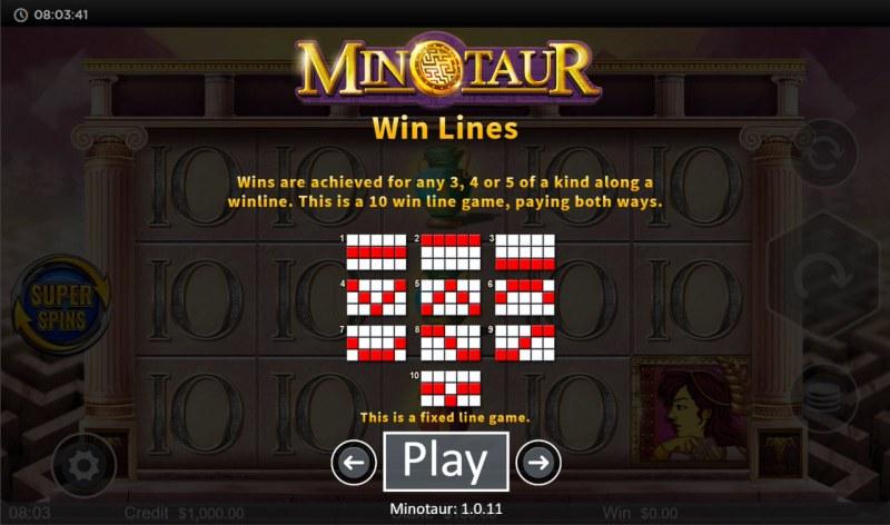 Minotaur :: Paylines 1-10