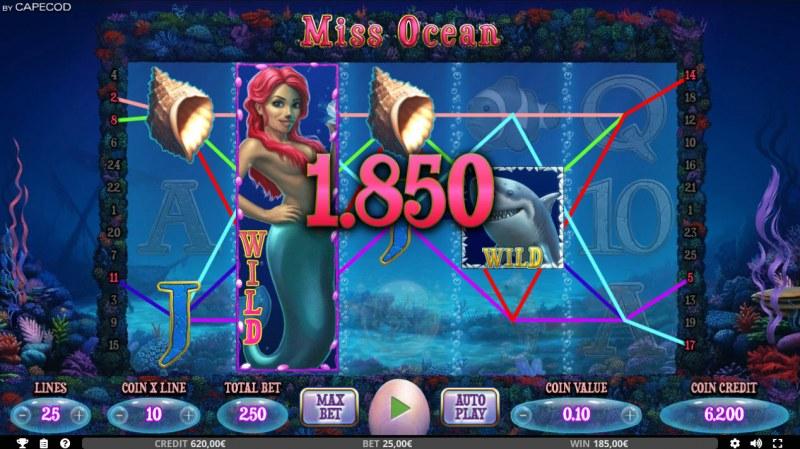 Miss Ocean :: Multiple winning paylines