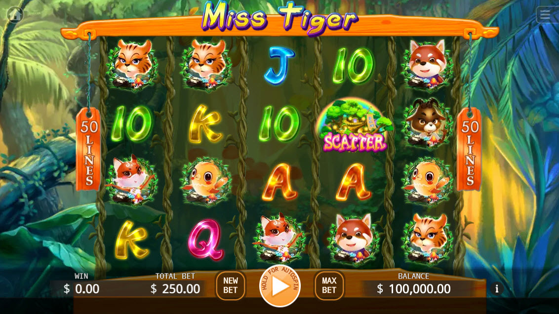 Miss Tiger :: Main Game Board