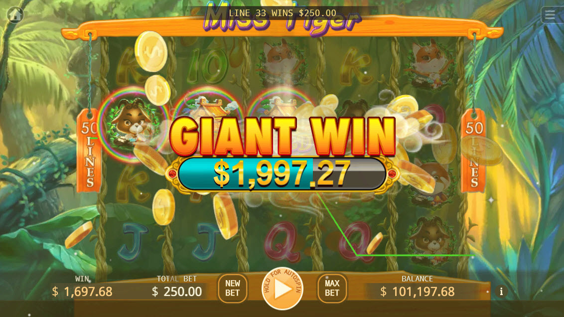 Miss Tiger :: Giant Win
